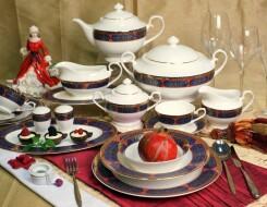 Роль обеденных и чайных сервизов в композиции обеденного стола