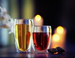 Двухслойные стаканы с двойными стенками для чая