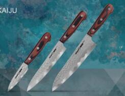 Обзор набора из трех ножей с деревянной ручкой Kaiju