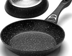 Сковородки с мраморным покрытием: плюсы и минусы, что это такое