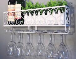 Подвесные полки для бокалов: разновидности
