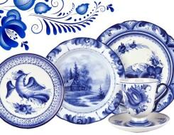 Особенности и история посуды гжель