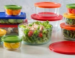 О наборах стеклянных салатников: большие модели с крышками