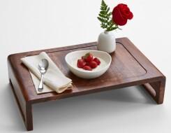 Переносной деревянный поднос для завтрака в постель