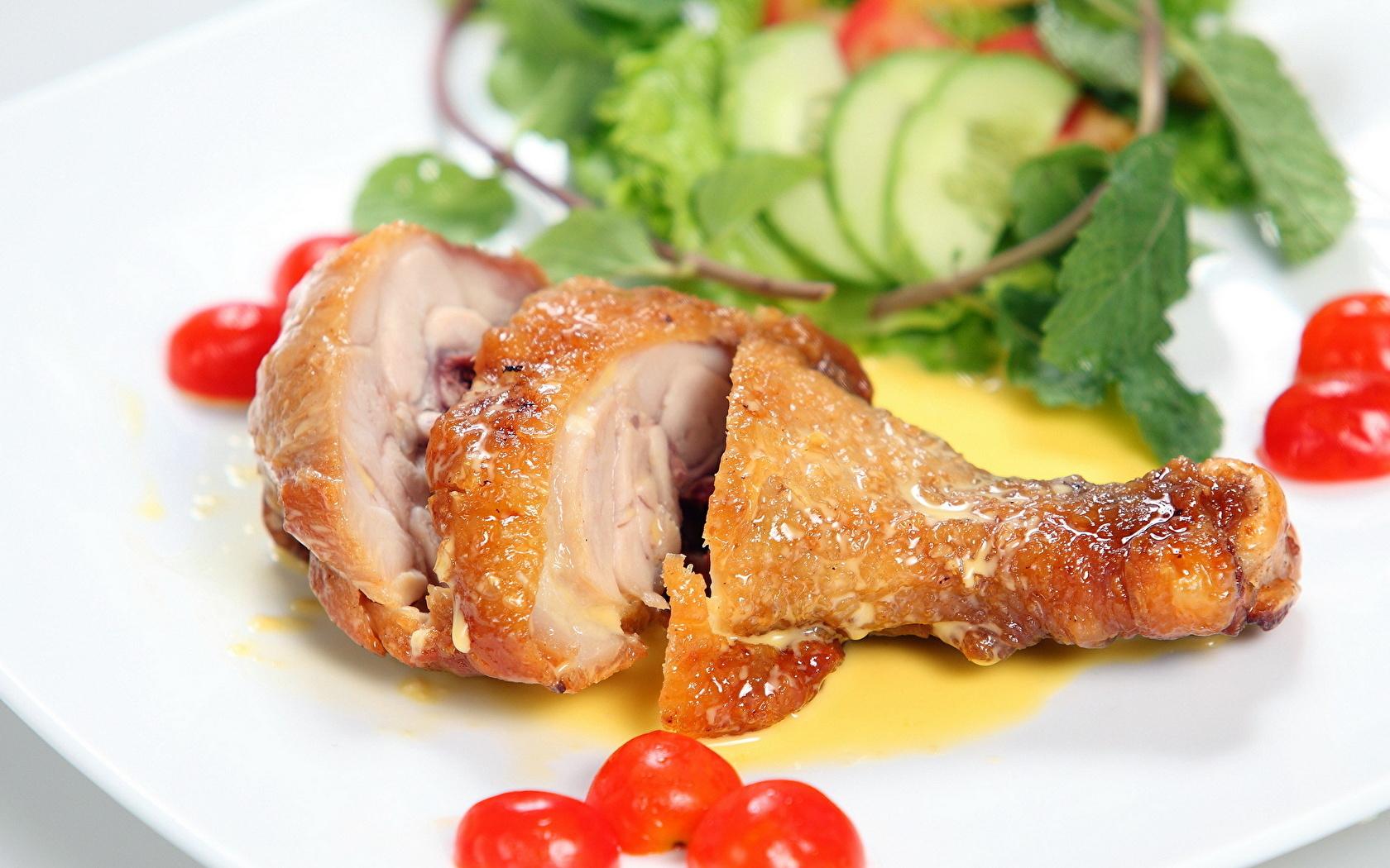 Печеная курица с овощами