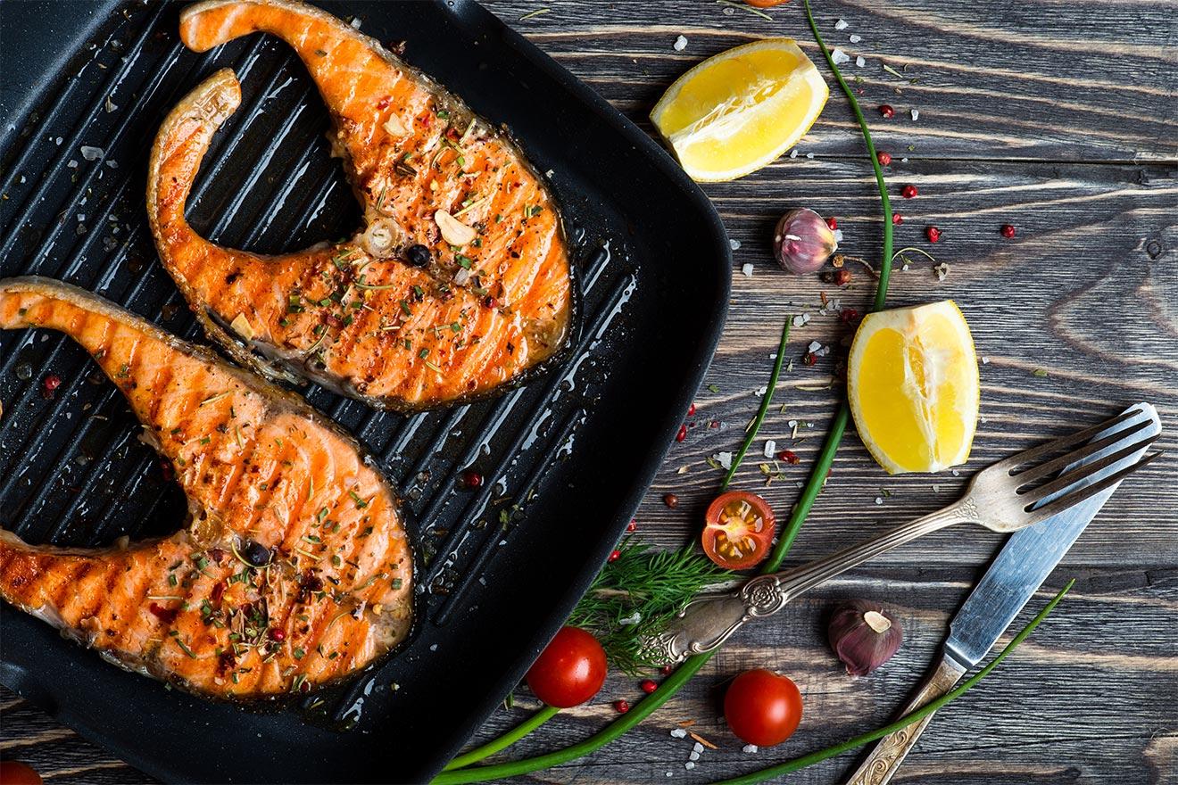 Сковорода-гриль с рыбой