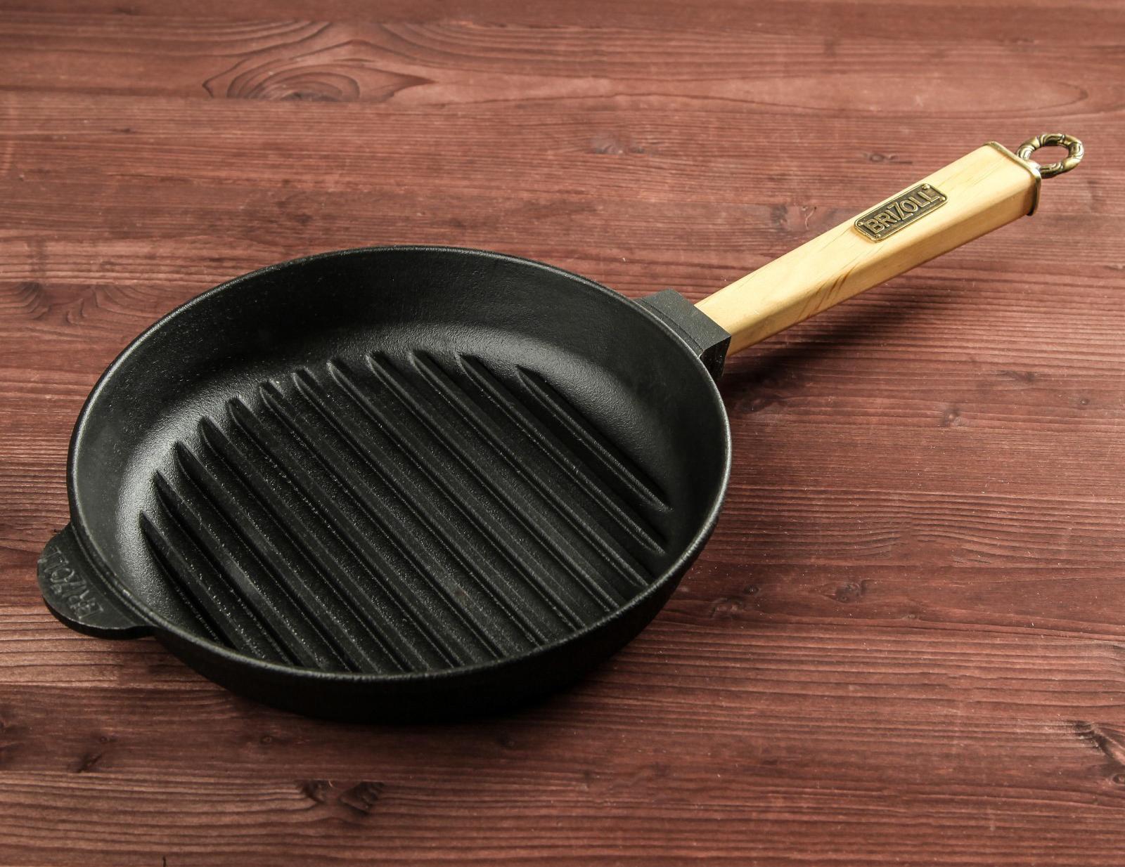 Фото чугунной сковороды-гриль
