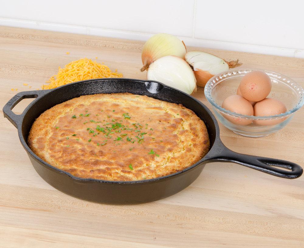 Чугунная сковорода с высокими бортиками