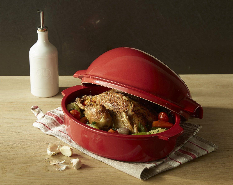 Керамическая жаровня с курицей