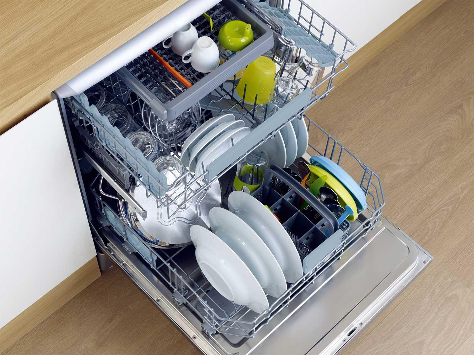 Фото посуды в посудомоечной машине