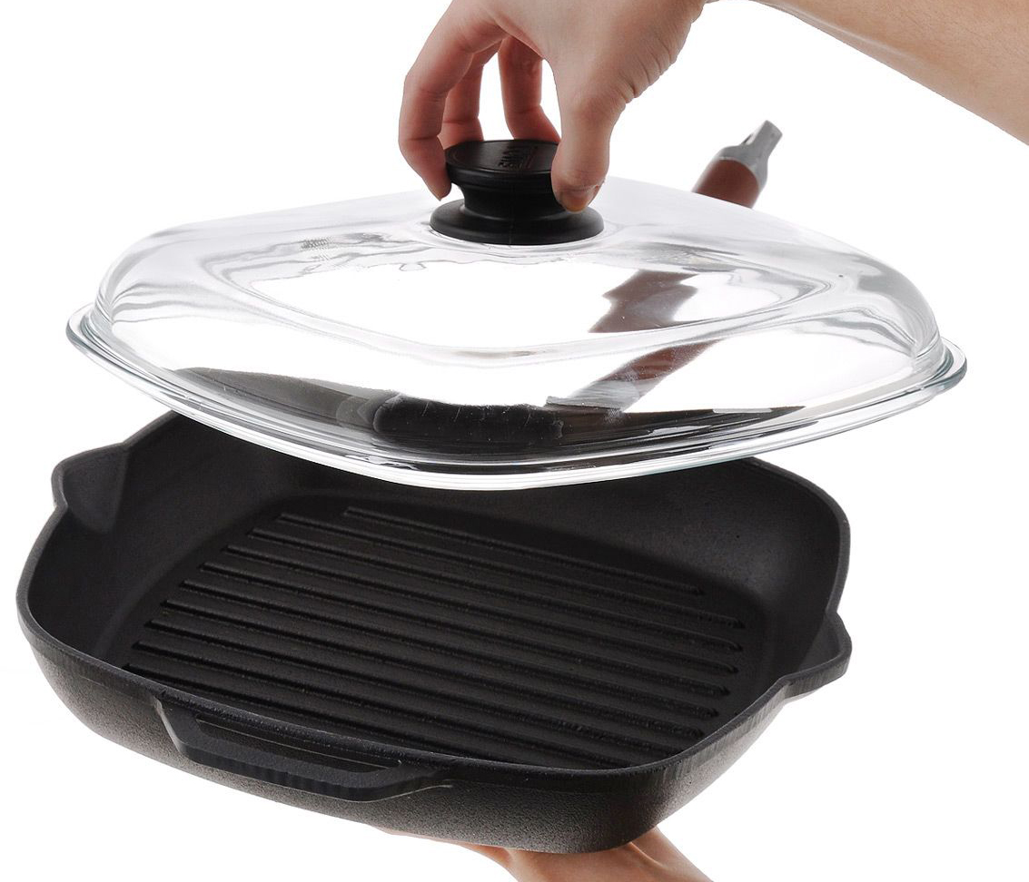 Фото сковороды гриль с крышкой