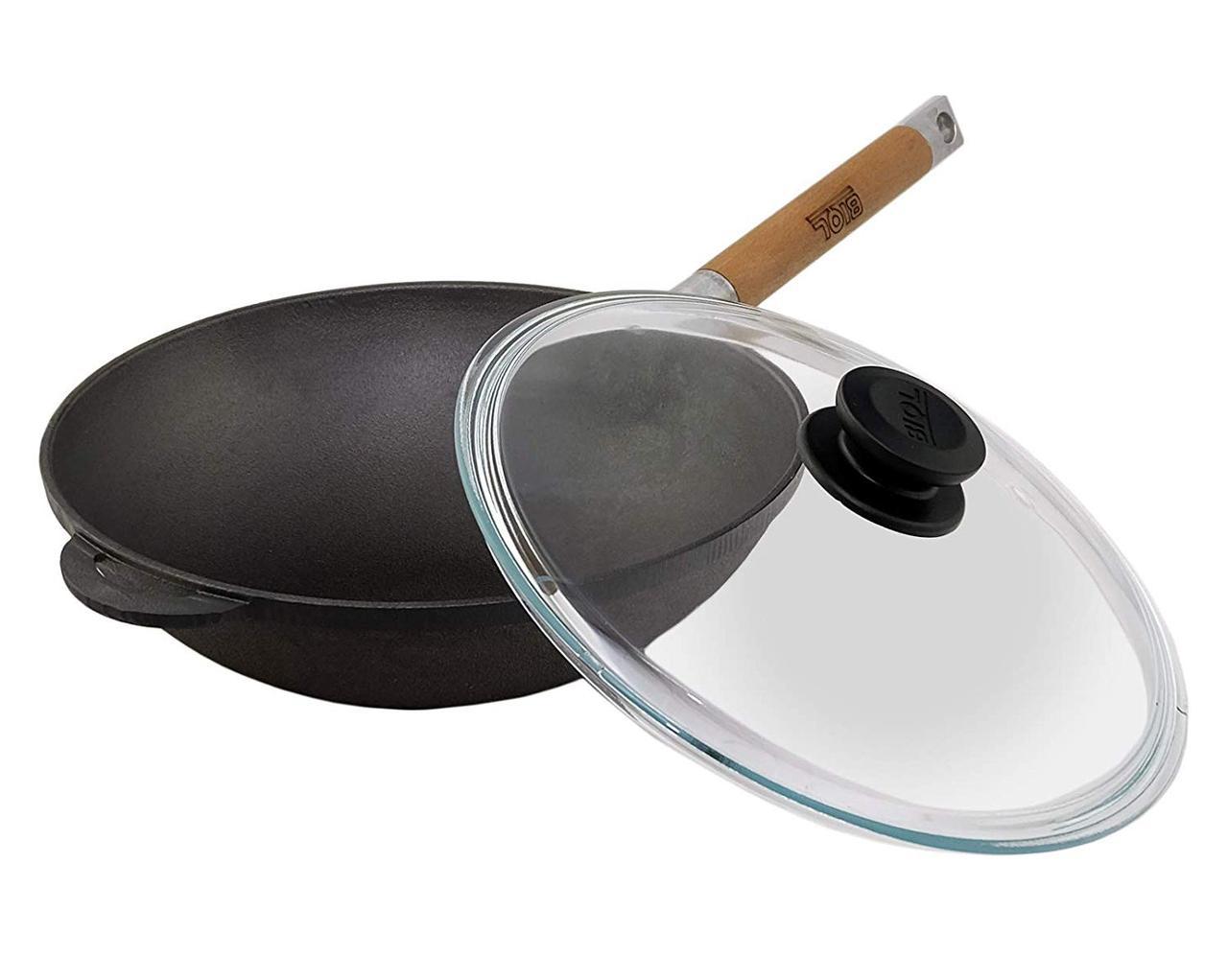 Фото сковороды вок из чугуна