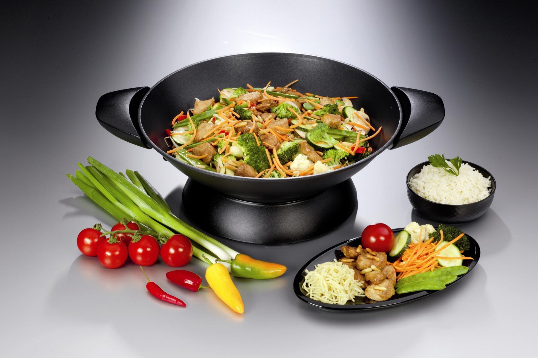 Сковорода вок с едой