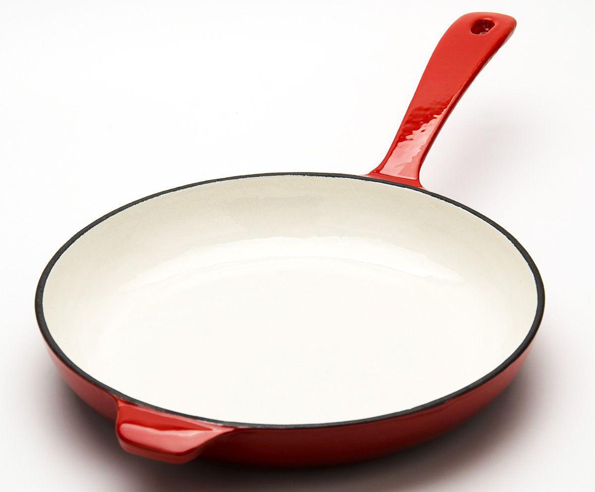 Чугунная сковорода с эмалированным покрытием