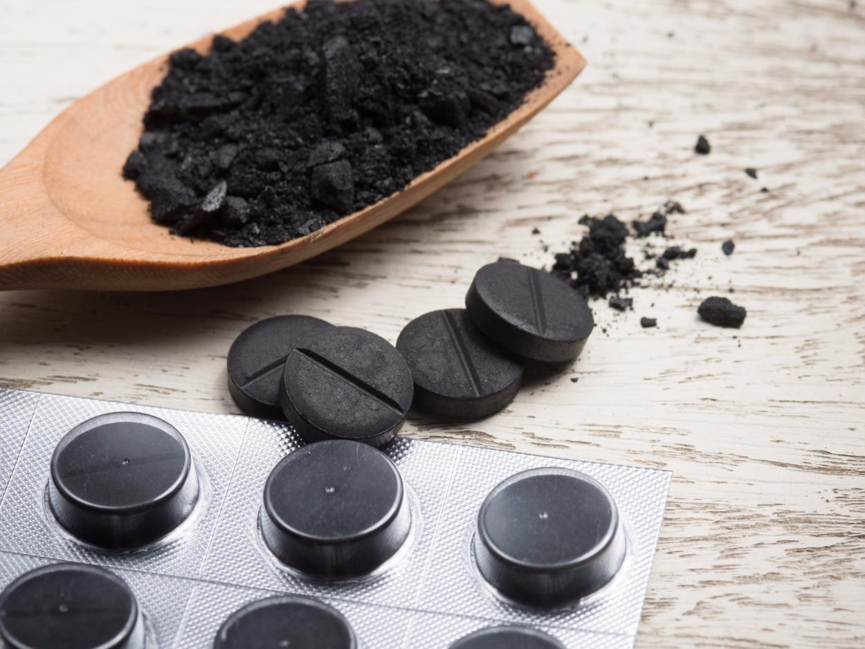 Активированный уголь.