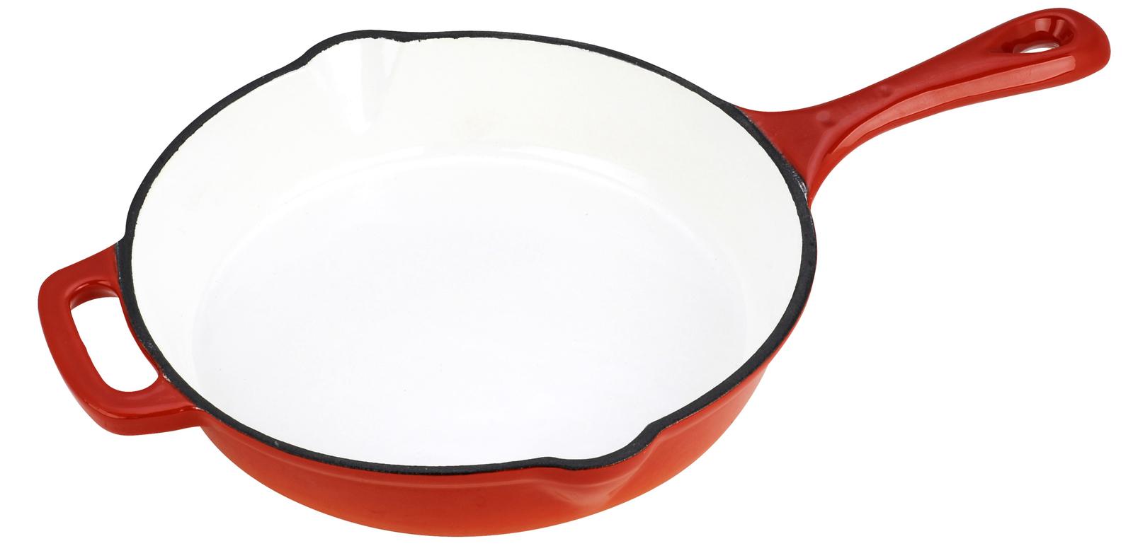 Чугунная сковорода эмалированная