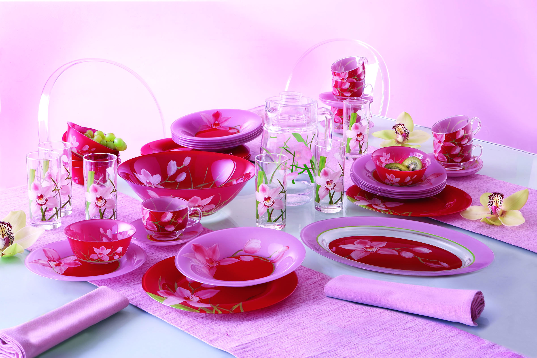 Розовая посуда Люминарк