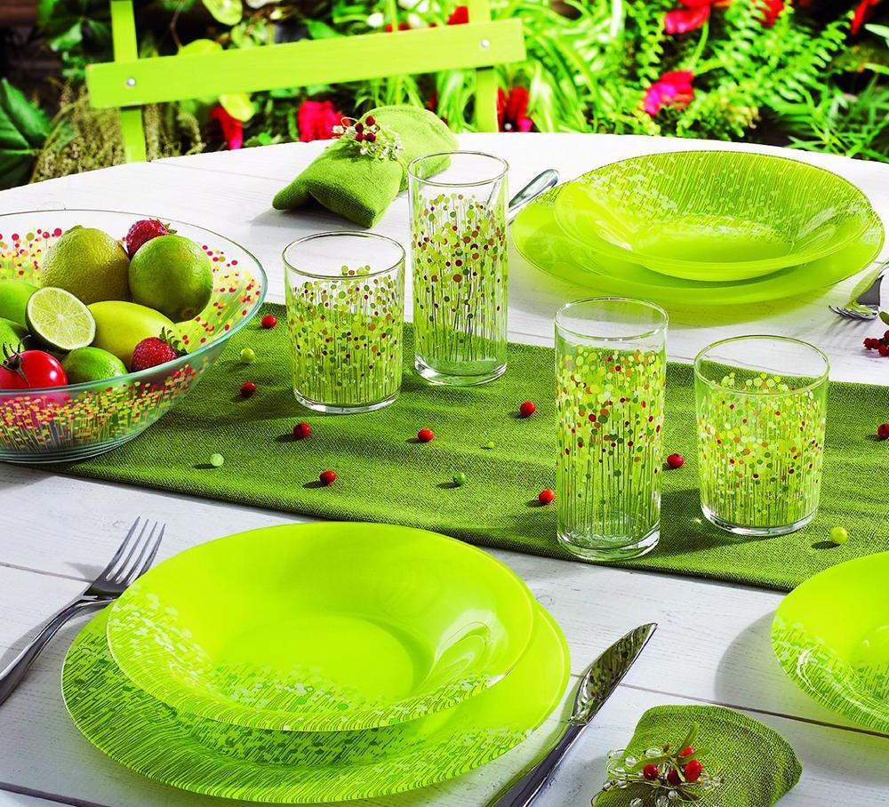 Посуда Люминарк зеленая