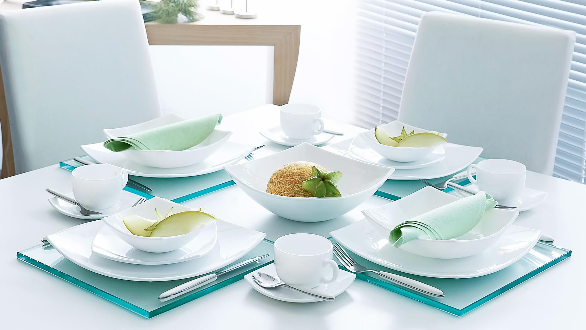 Сервировка стола посудой Люминарк