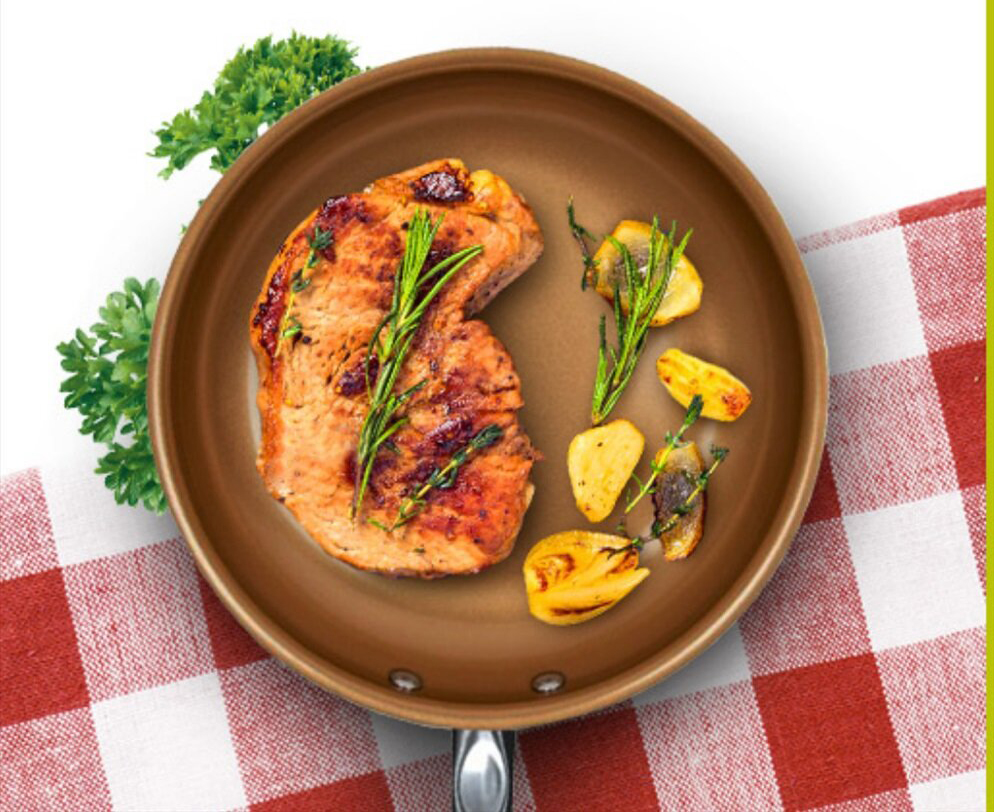 Сковорода Ля шеф с едой