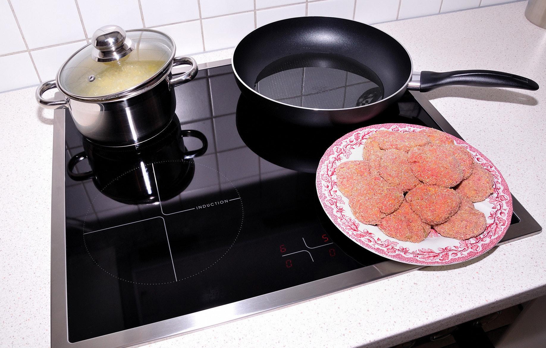 Сковорода на индукционной плите