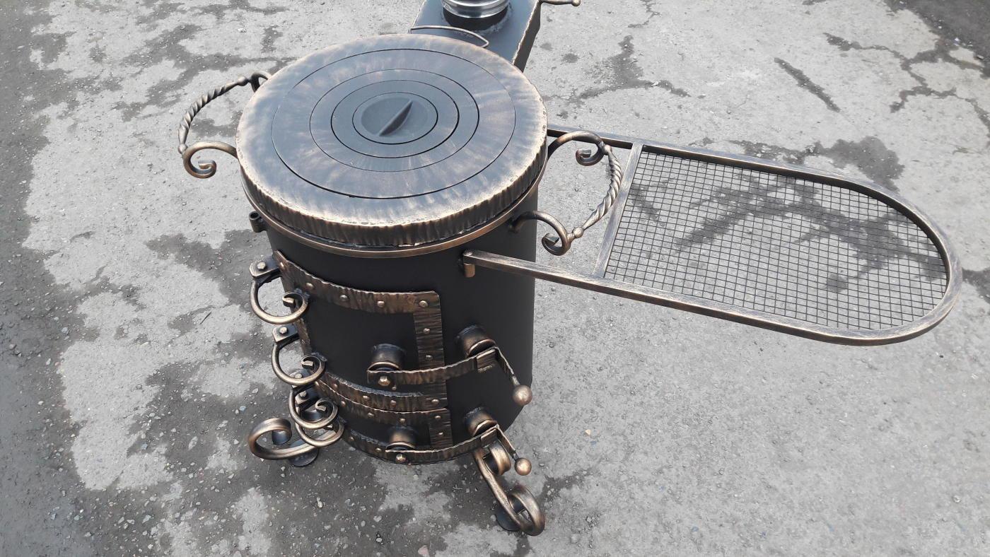 Чугунная плита с печкой