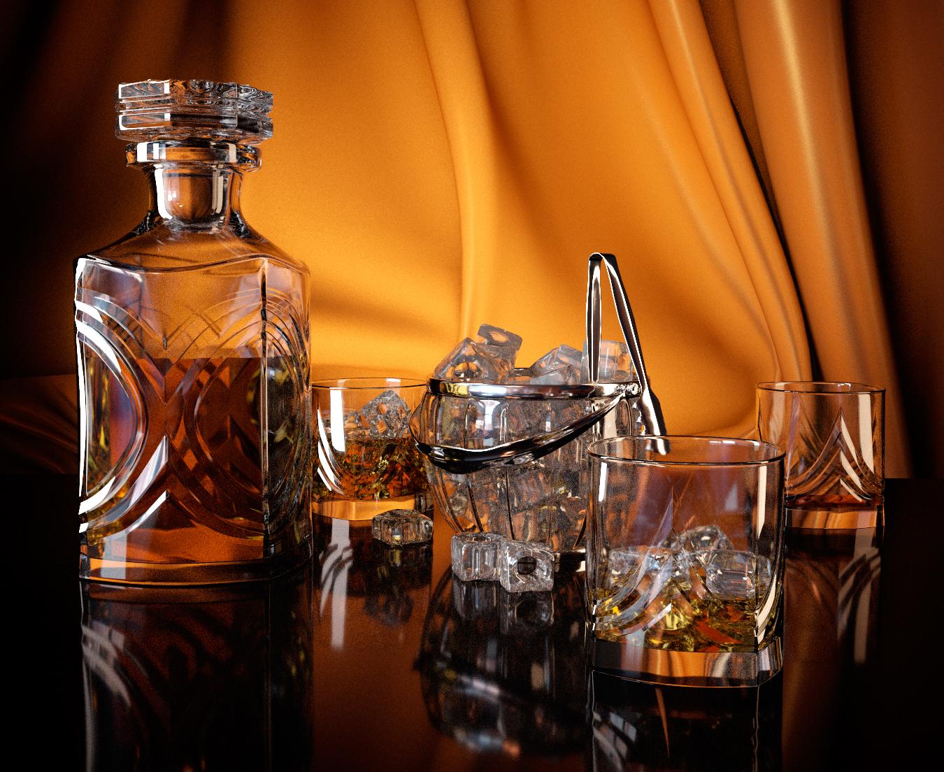 Стеклянный графин для виски