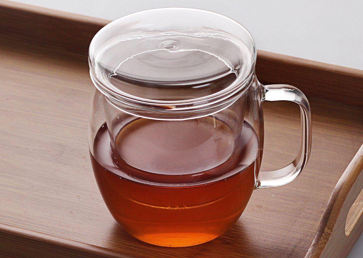 Фото стеклянной заварочной чашки