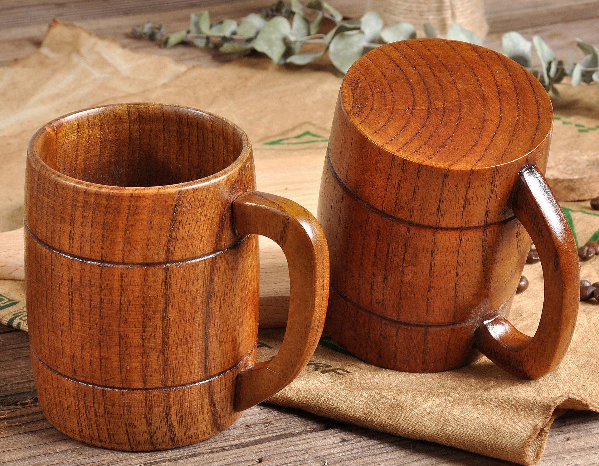 Фото деревянных кружек