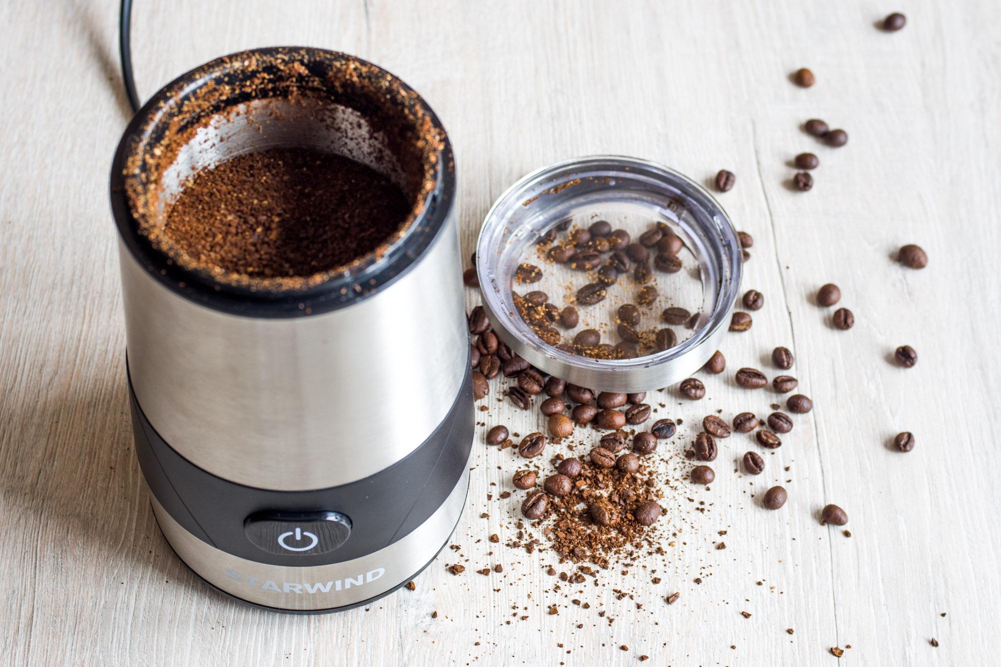 Роторная кофемолка с зернами