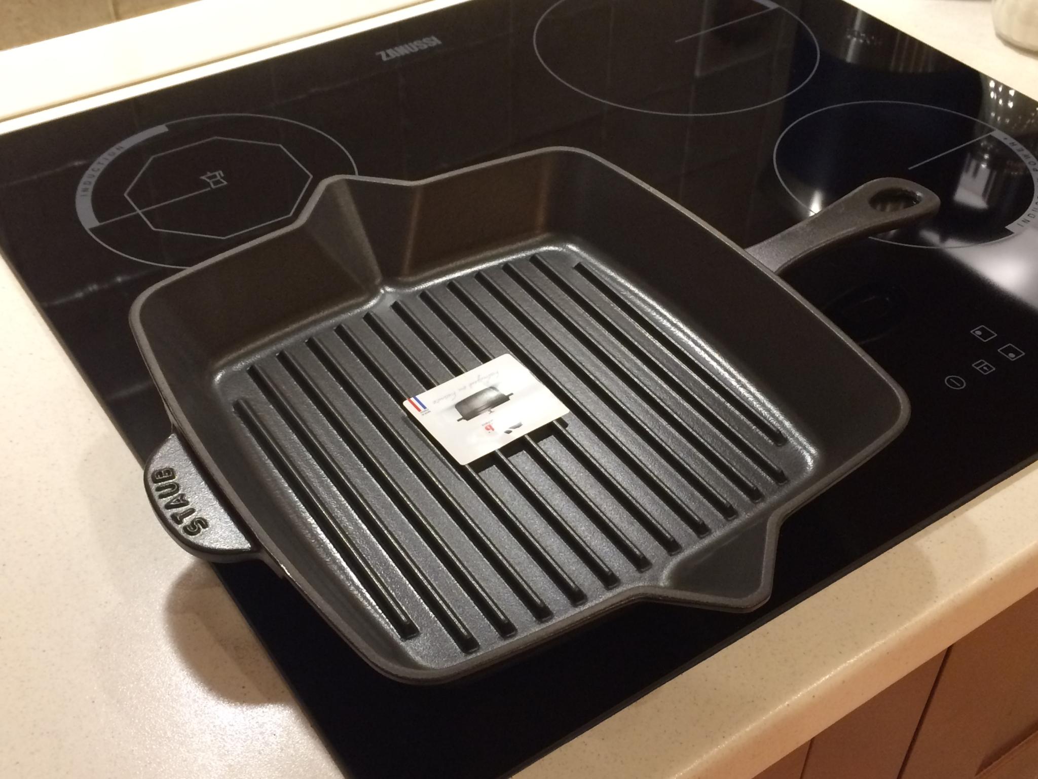 Сковорода гриль на индукционной плите