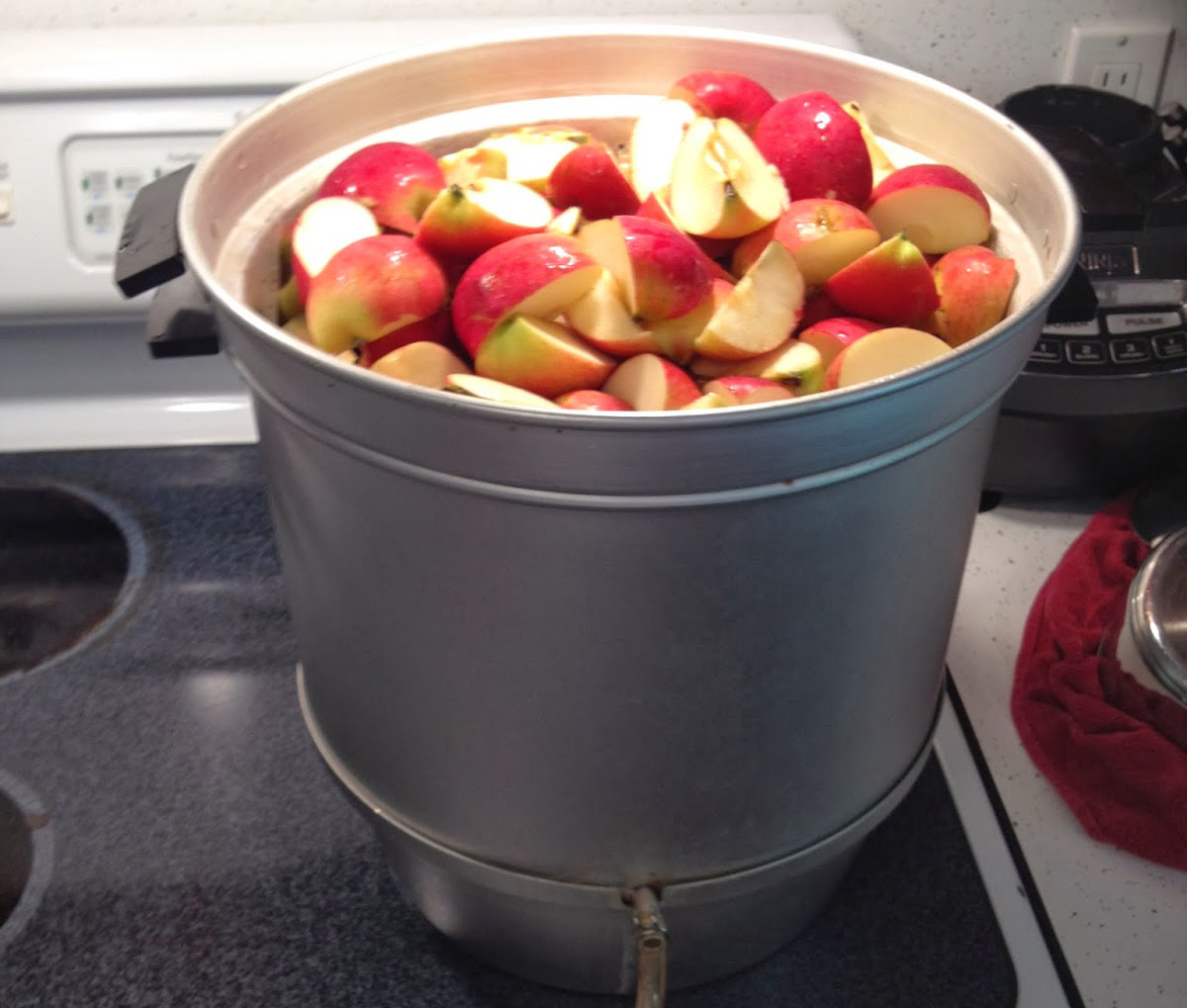 Фото соковарки с яблоками