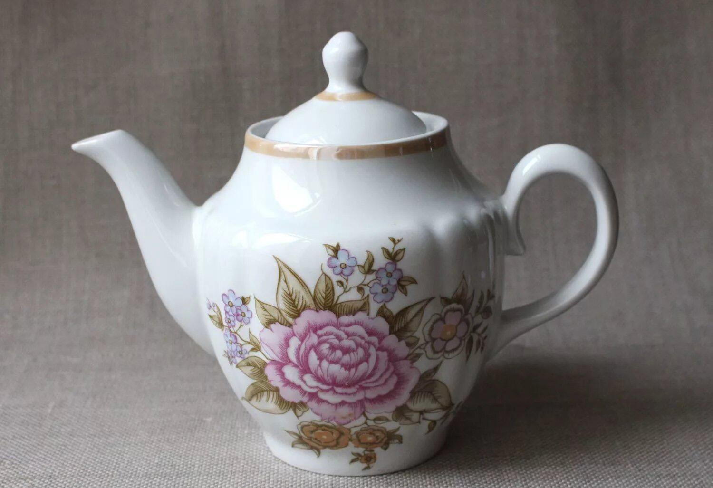 Фаянсовый заварочный чайник