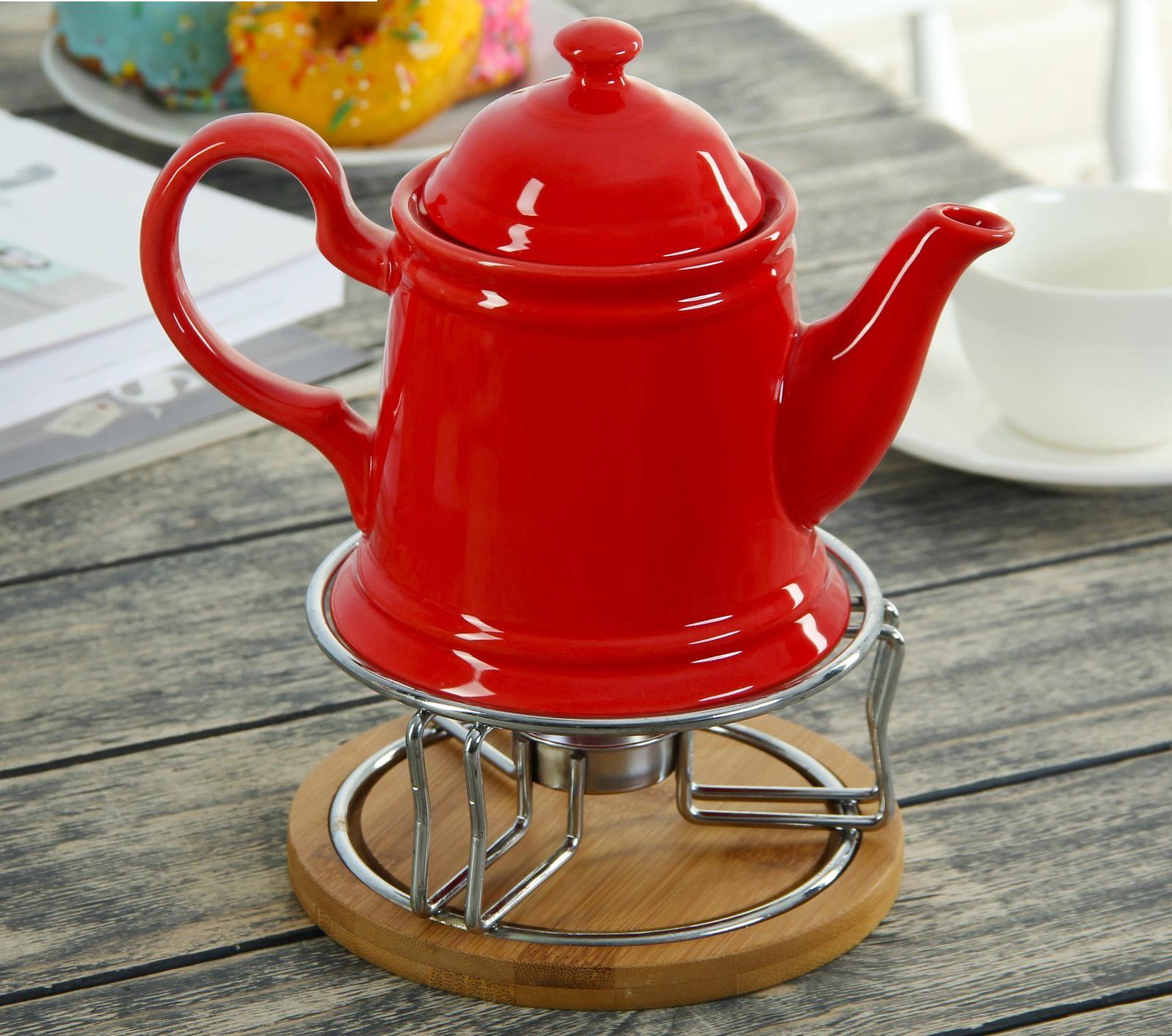 Как выбрать стеклянный чайник с подогревом от свечи для ...