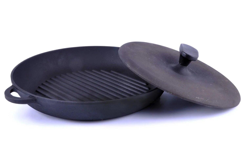 Чугунная сковорода гриль Ситон