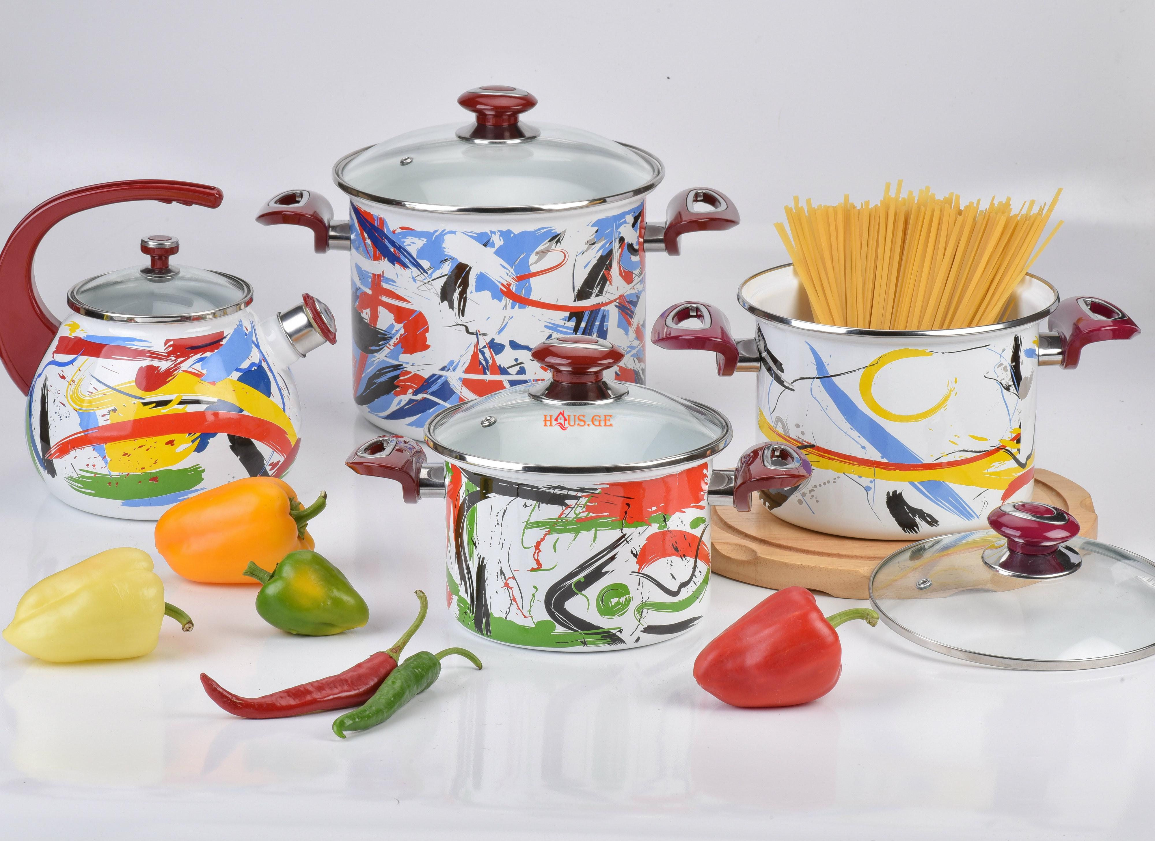 Эмалированная посуда с рисунком