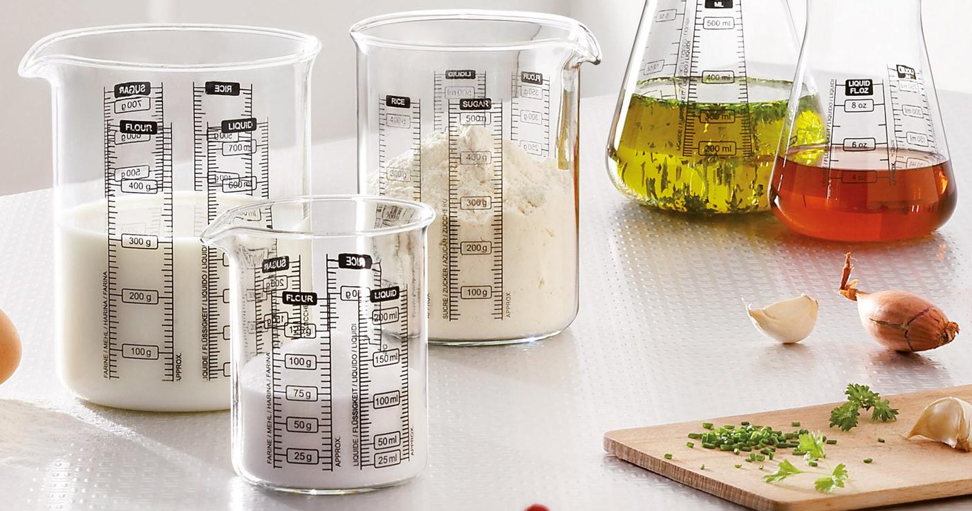 Мерные стаканчики Pyrex Kitchen Lab