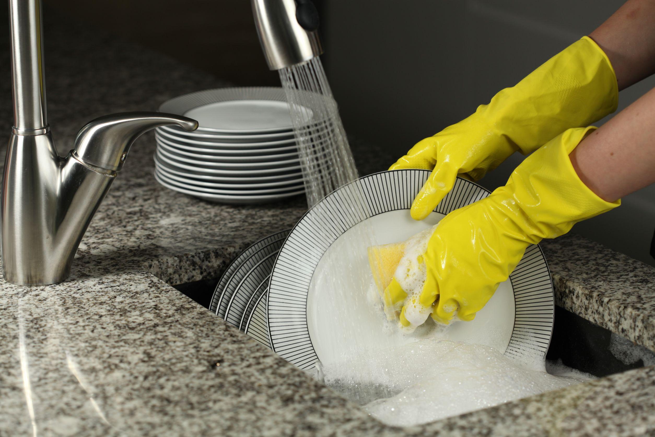 Фото мытья посуды
