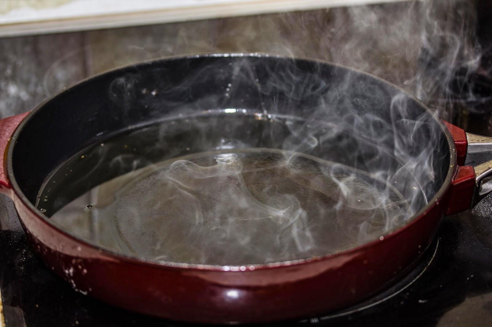 Прокаливание сковороды