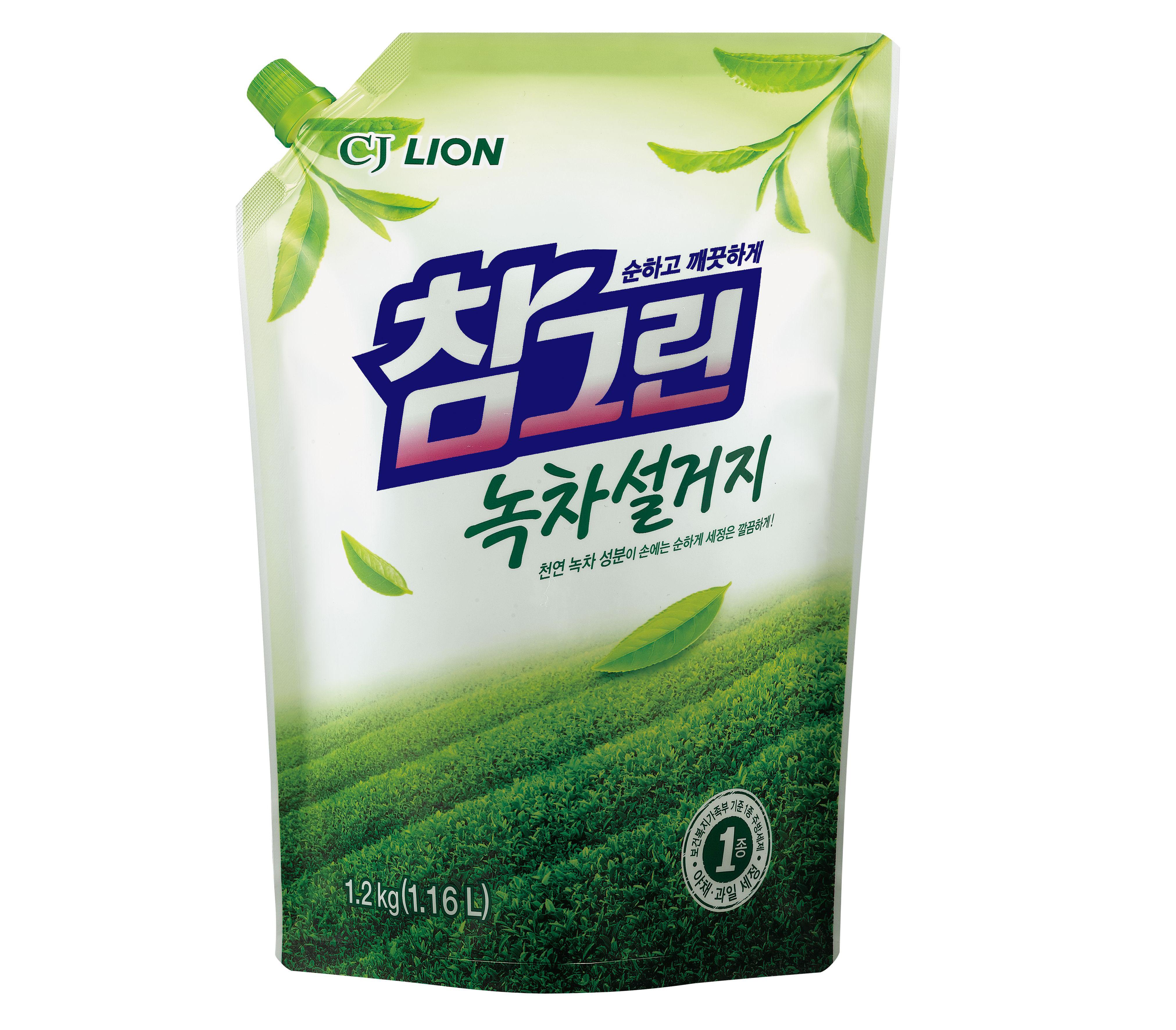 Средство для мытья посуды Lion зеленый чай