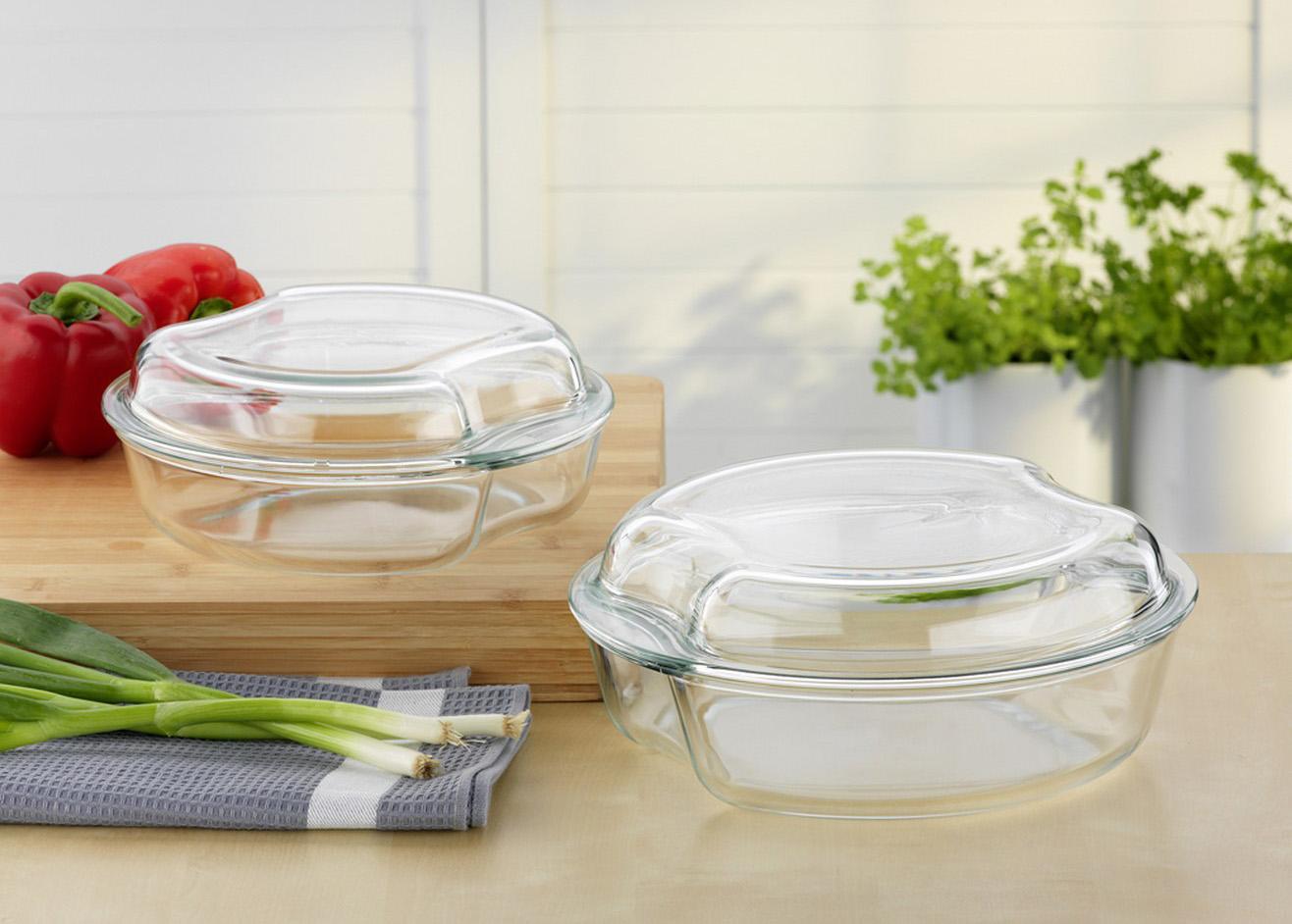 Фото стеклянной посуды для духовки