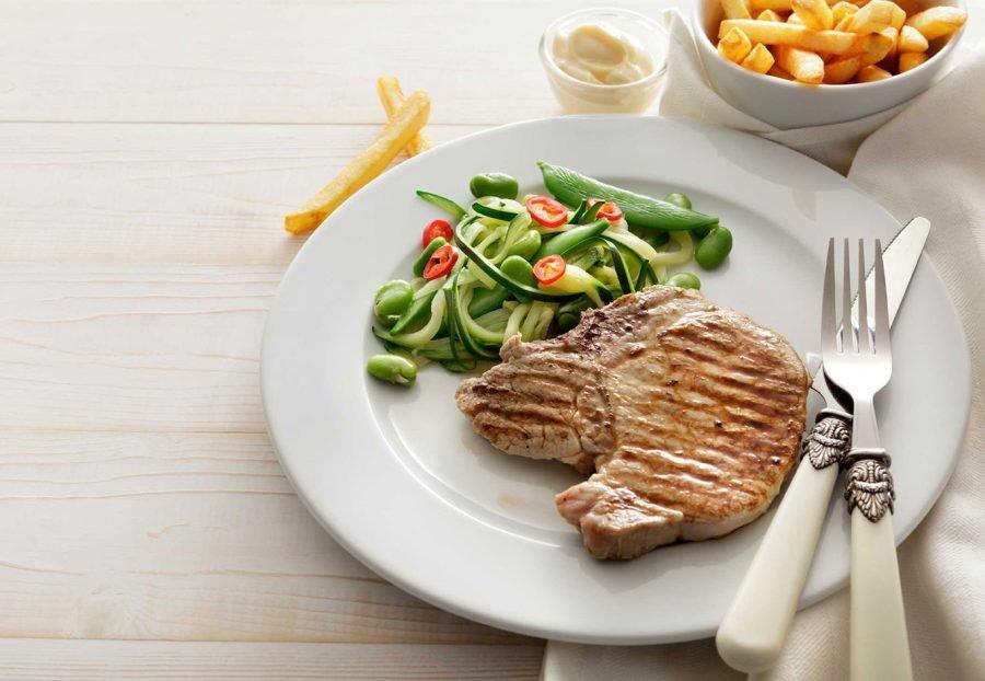 Здоровая еда на тарелке