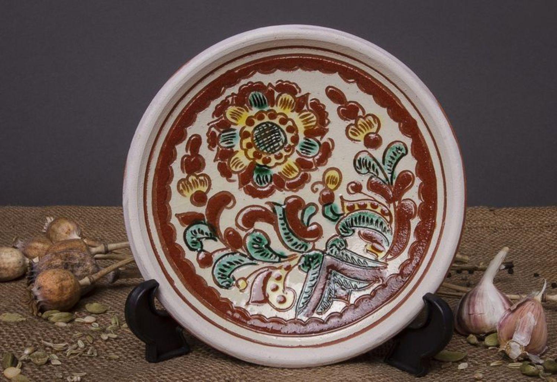 Фото глиняного блюдца