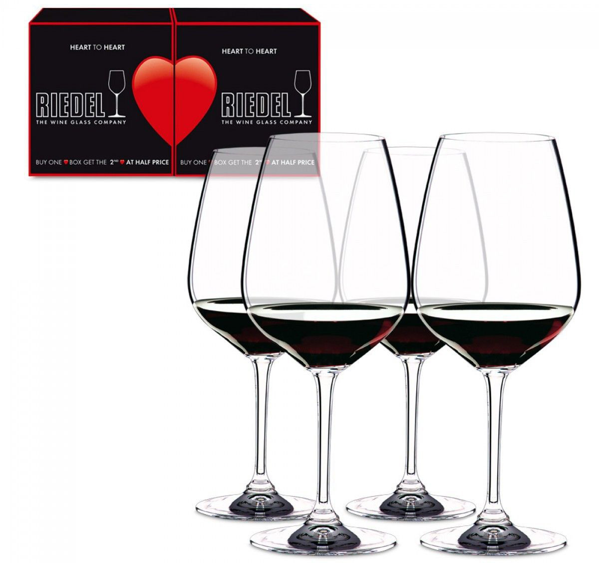 Бокалы Riedel Heart to Heart