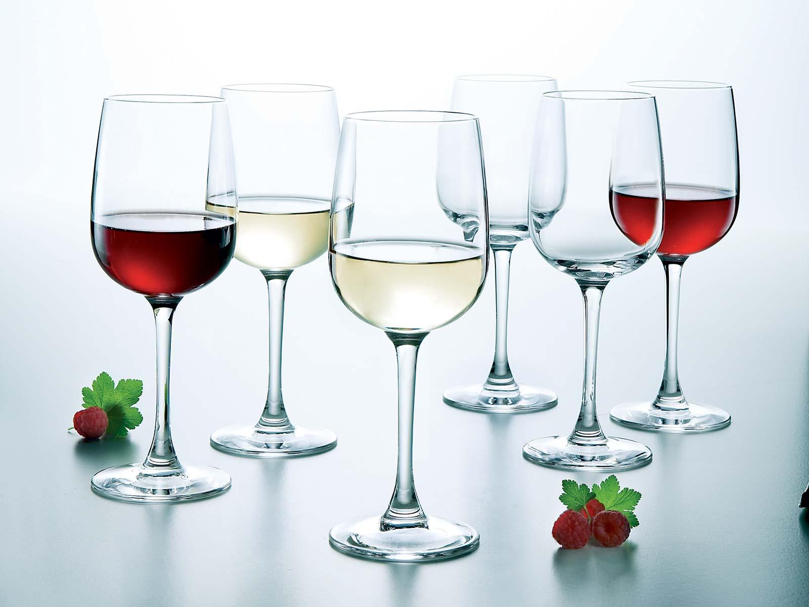 Бокалы для красного и розового вина