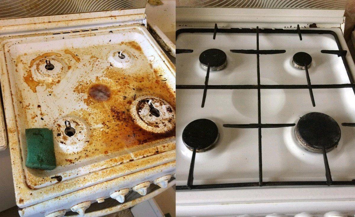 Фото грязной плиты
