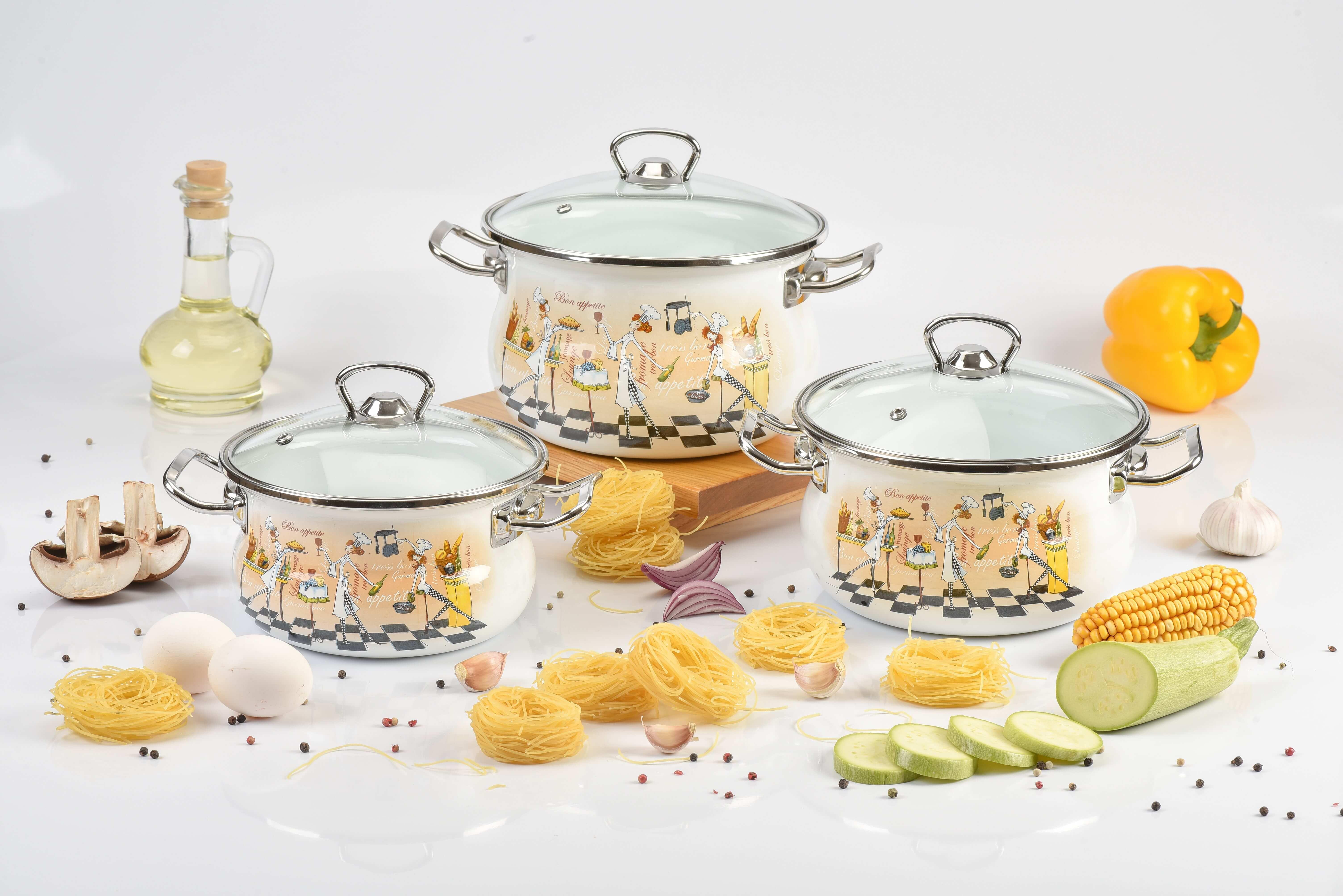 Красивая эмалированная посуда