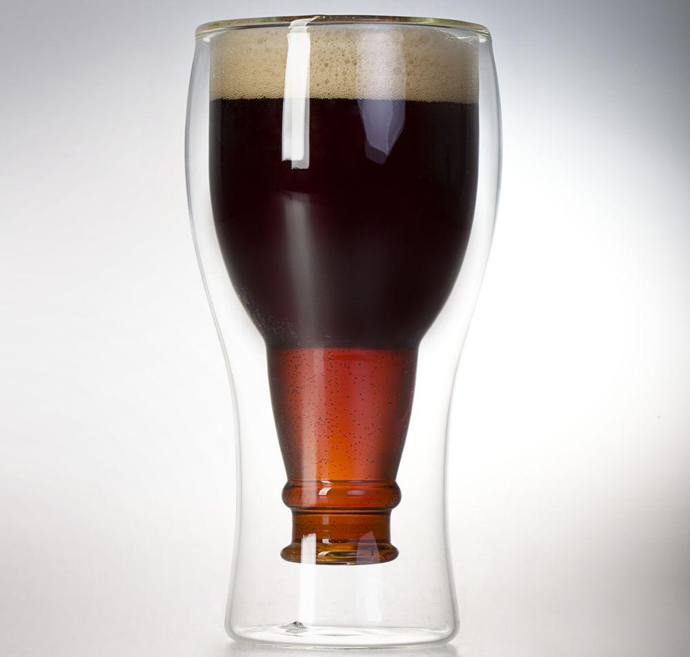 Пивной бокал с двойными стенками