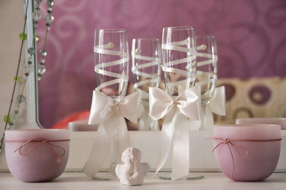 Фото свадебных бокалов