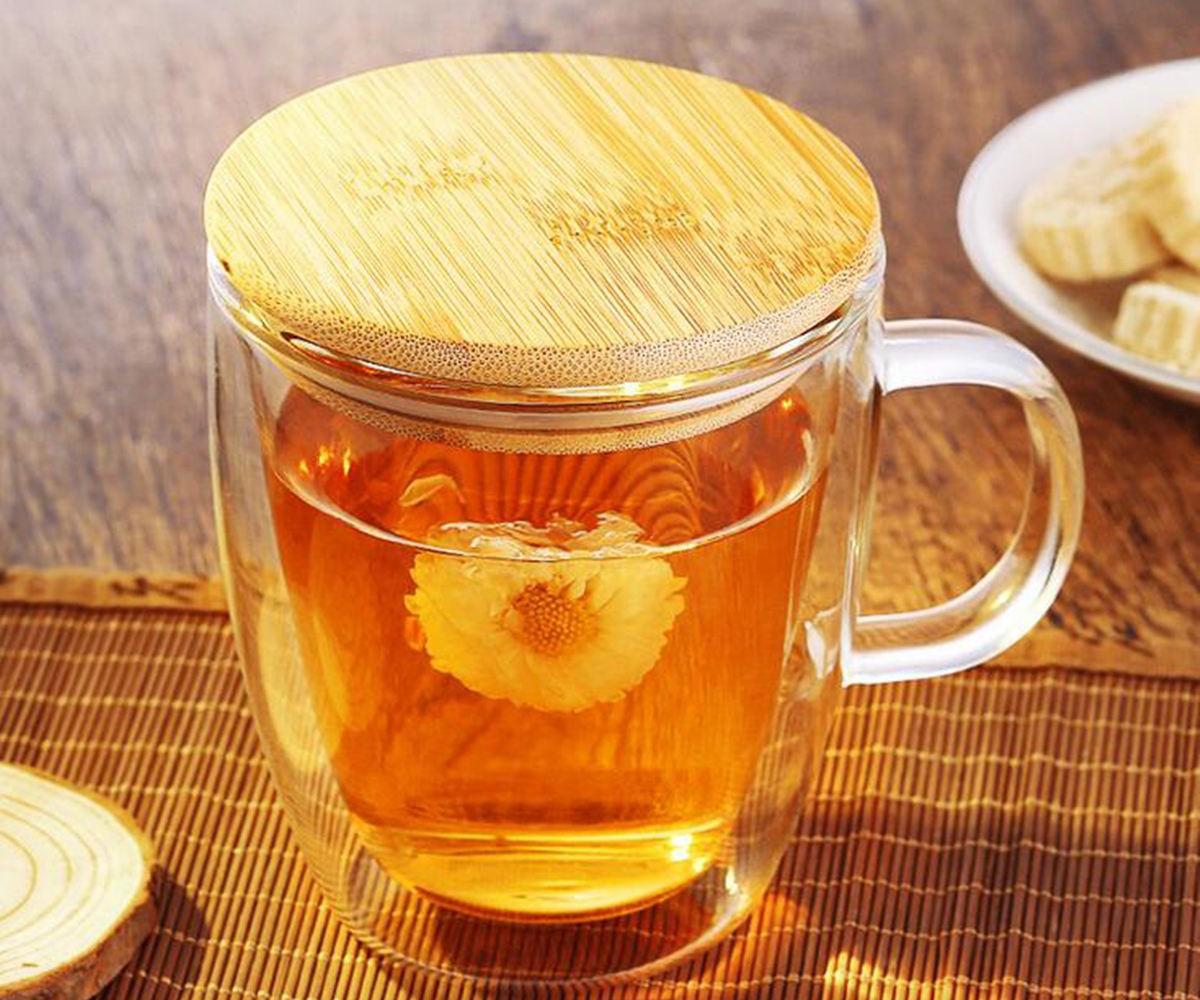 Чашка с бамбуковой крышкой